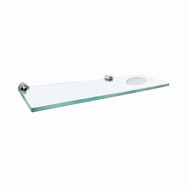 Porta Shampoo Duplo em Vidro Luxo Slim 514LSA Grego Metal