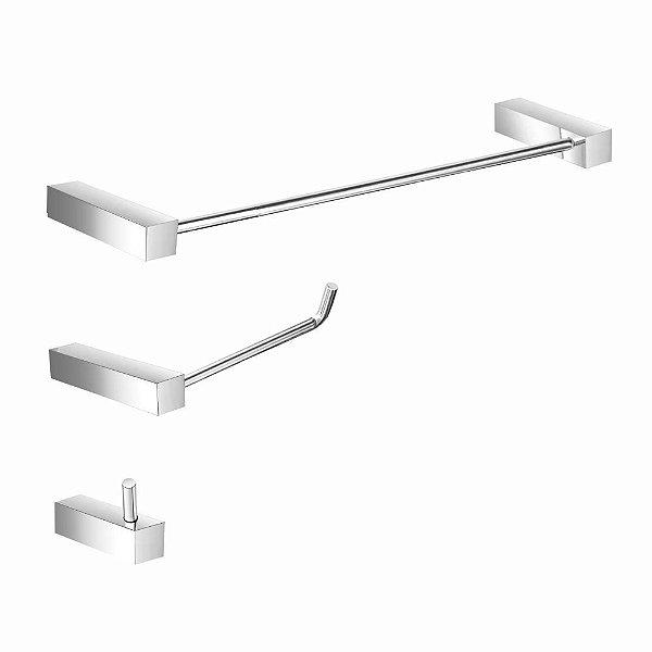 Kit Acessórios para banheiro Metal Prátika 826PK