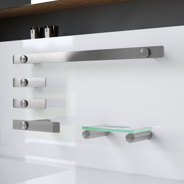 Kit Acessórios para Banheiro Acessórios Inox Escovado 104DX Decaluxo