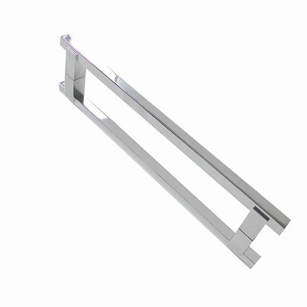 Puxador duplo para portas 70 cm Grego Metal 100PM