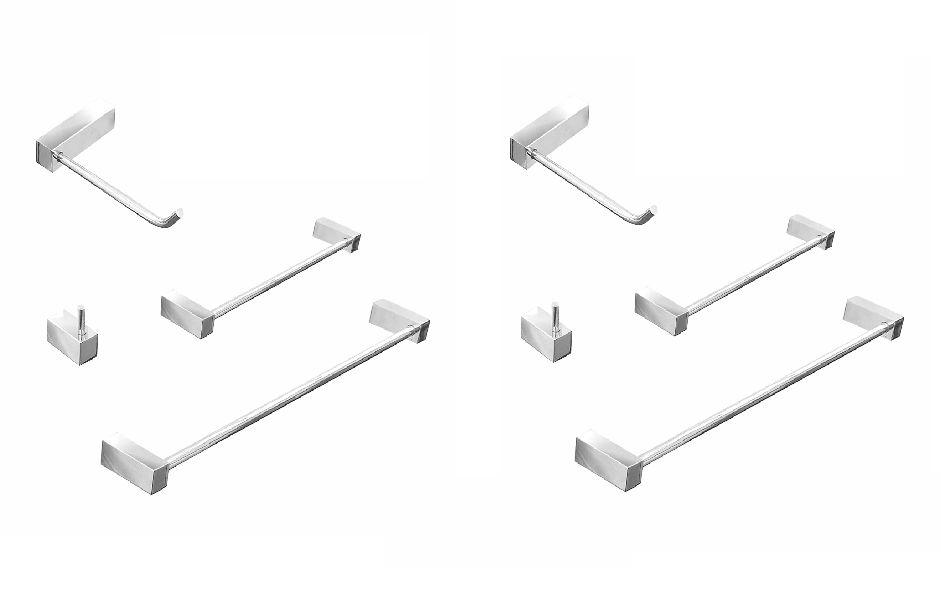 Kit Acessórios para Banheiro Metal 8 Peças Prátika