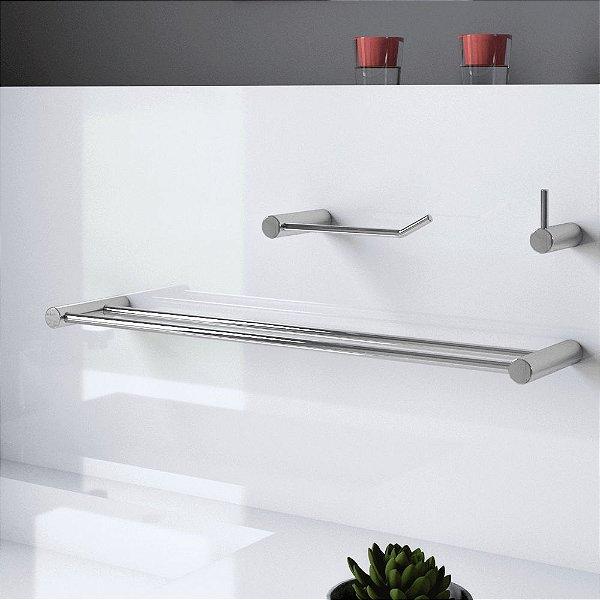 Kit de Banheiro Acessórios Metal Luxo Plus 525LP Grego