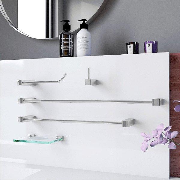 Acessórios de Banheiro Metal 5 Peças Prátika 812PKA Grego