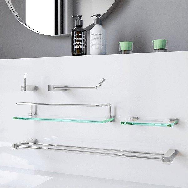 Acessórios Banheiro com Prateleira Proteção Prátika 802PK