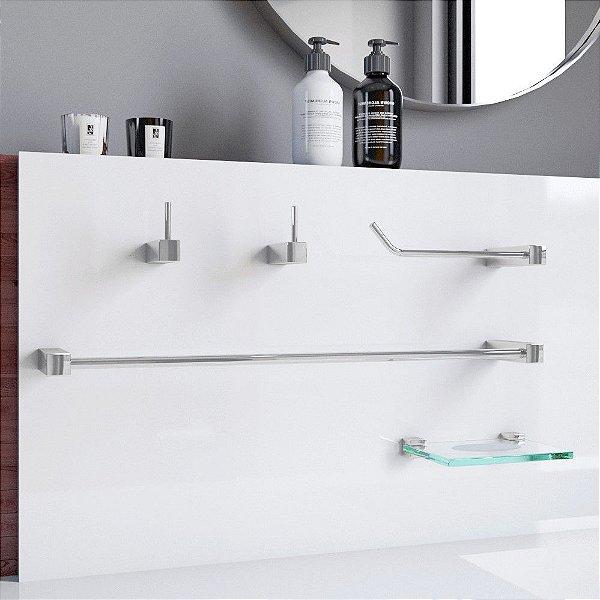 Conjunto Acessórios para Banheiro 5 Peças Prátika 825PKA