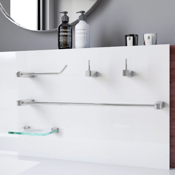 Kit de Acessórios para Banheiro 5 Peças Prátika 825PK Grego