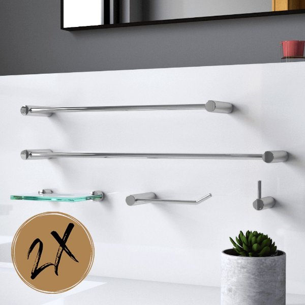 Kit Acessórios Para Banheiro (2 Kits) 10 Peças Slim 500LS2