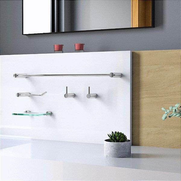 Kit Acessórios de Banheiro 5 Peças Luxo Slim 525LS Grego