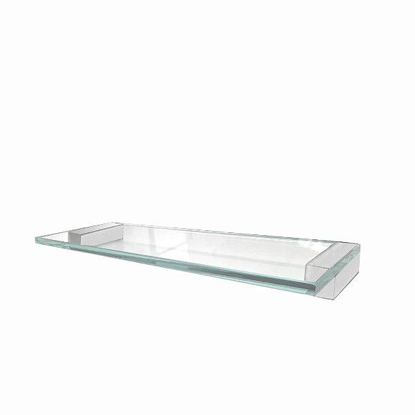 Prateleira Aço Inox e Vidro Alto Padrão 314VIP Grego Metal