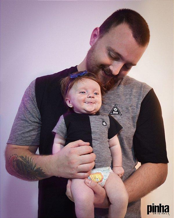 Kt camiseta Pais e filhos - Half Side- vestuário vegano