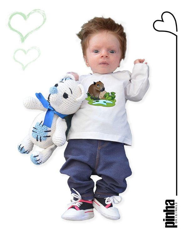 Camiseta Vegana Sustentável Capivara - Linha baby