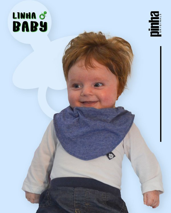 Babador Baby Sustentável - Azul Claro