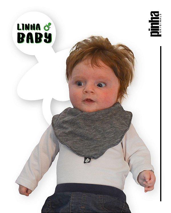 Babador Baby Sustentável - Cinza Mescla