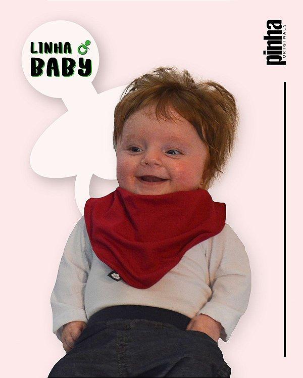 Babador Baby Sustentável - Vermelho