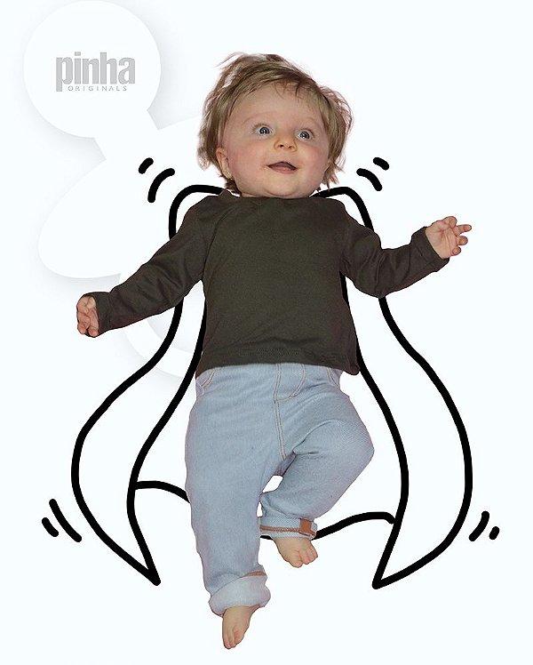 Camiseta Vegana Sustentável básica Verde - Linha baby