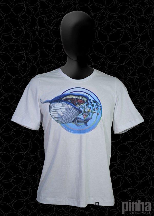 Camiseta Baleia Minke - Meu Lar Teu Lixo