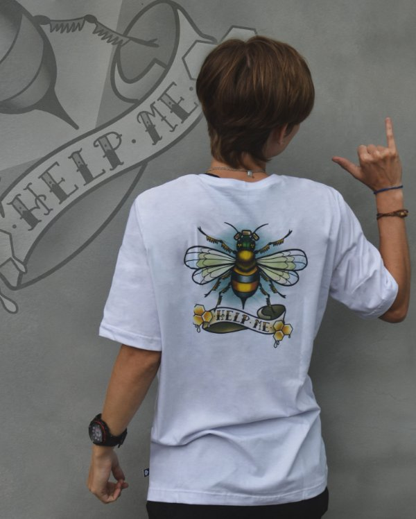 Camiseta Abelha Help the Bees -Pinha ECO SCHOOL