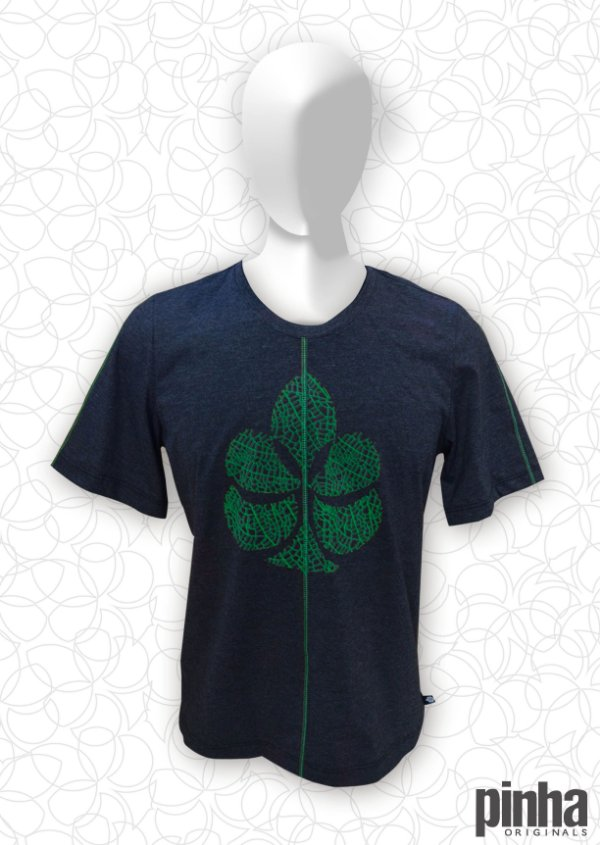 Camiseta Logo Pinha Folha Verde - Pinha Originals