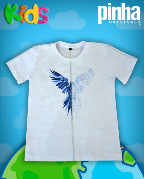 Camiseta Aniamal Duo Arara Azul- Kids