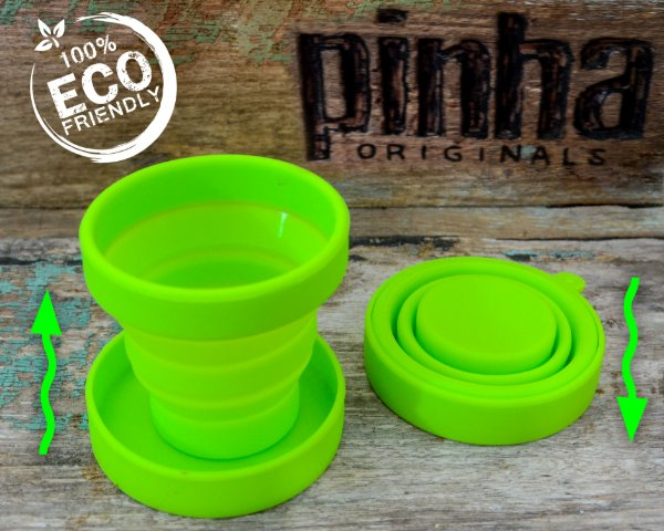 Copinho Verde de Silicone Retrátil  100ml