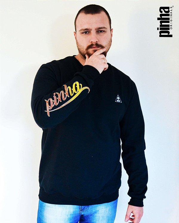 Moletom Preto Pinha Fire- Pinha Originals