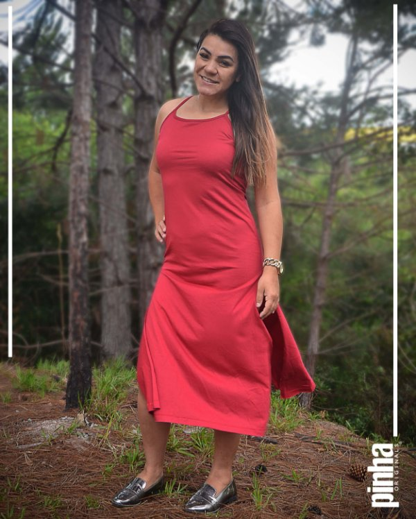 Vestido Long Colors com alças - Pinha Originals