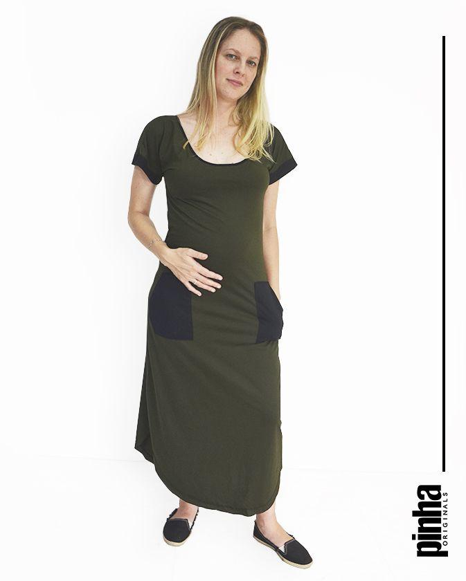 Vestido Pocket - Pinha Originals