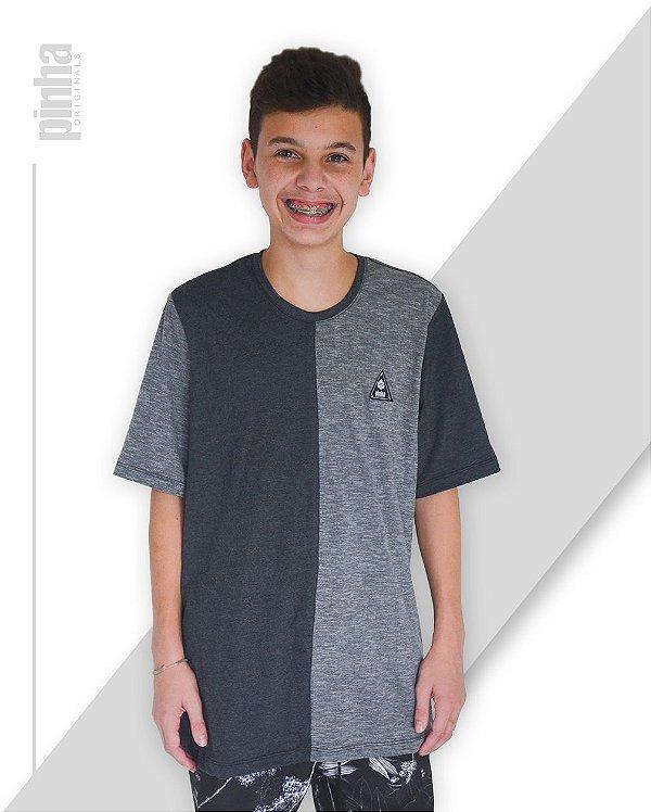 Camiseta Half-Side- Sustentável Tundora e Mescla - Pinha Originals