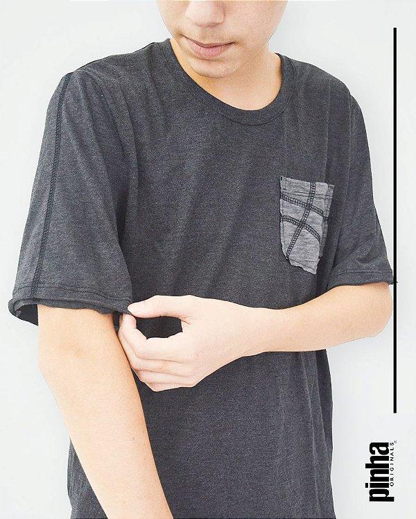 Camiseta Tundora com bolso costura- Sustentável - Pinha Originals
