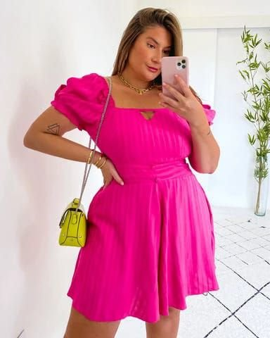 Macaquinho Plus Size Layla Pink