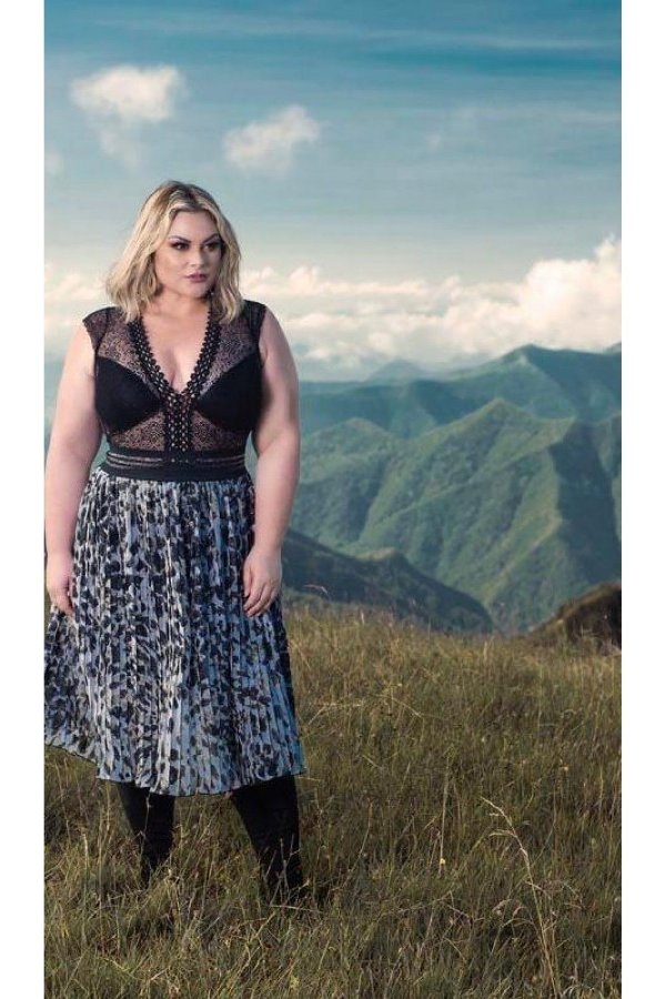 Body de Renda Plus Size
