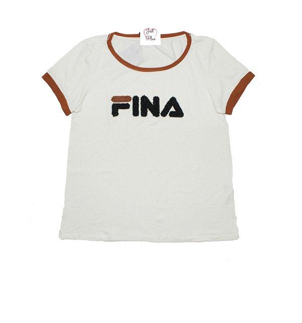 T-Shirt Plus Size Fina Off White