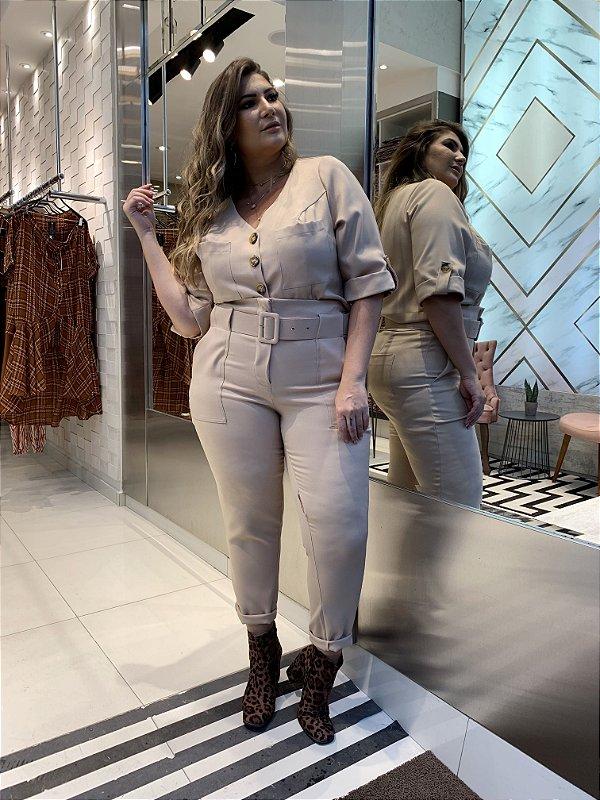 Conjunto Nude Maxi Plus Fashion