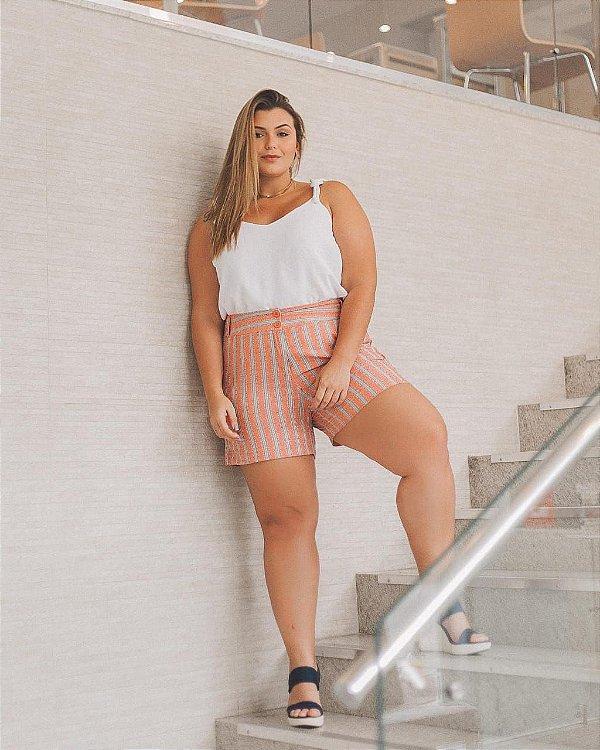 Shorts Listrado Marina