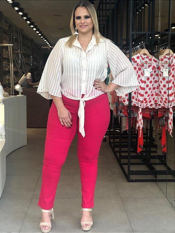 Calça Skinny Bengaline Pink