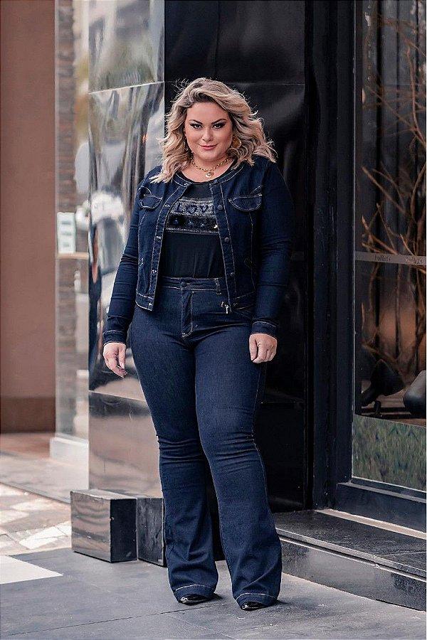 Calça Jeans Flare Plus Size Lizy 44