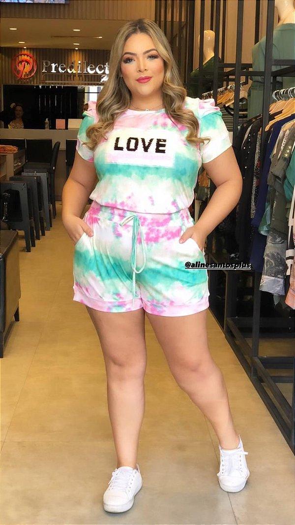 Conjunto Plus Size Tie Dye Diva