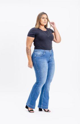 Calça Jeans Flare Plus Size Anabel