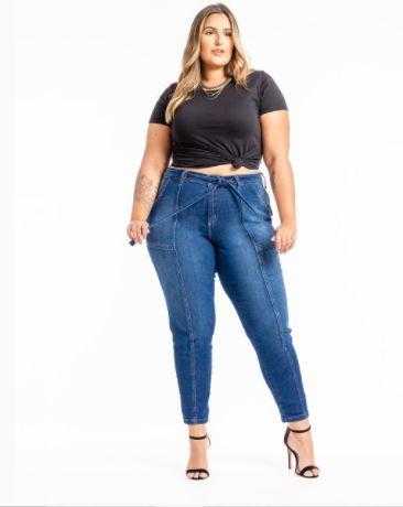 Calça Jeans Cigarrete Plus Size Kira