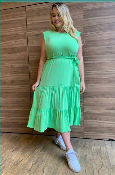 Vestido Plus Size Caipirinha de Limão