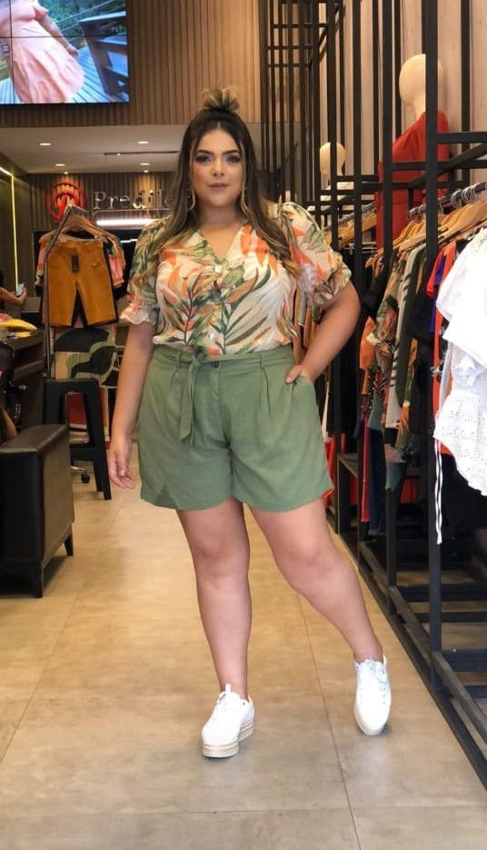 Shorts Plus Size Melanie Verde