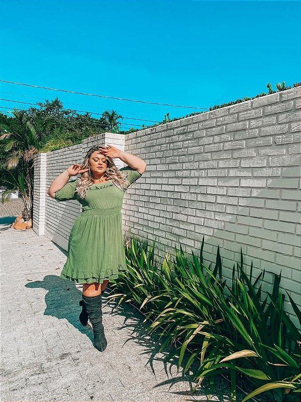 Vestido Plus Size Susan Verde