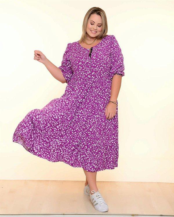Vestido Plus Size Liberty Purple