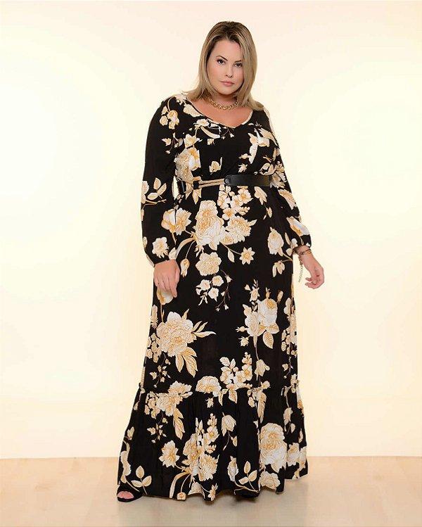 Vestido Plus Size Flower