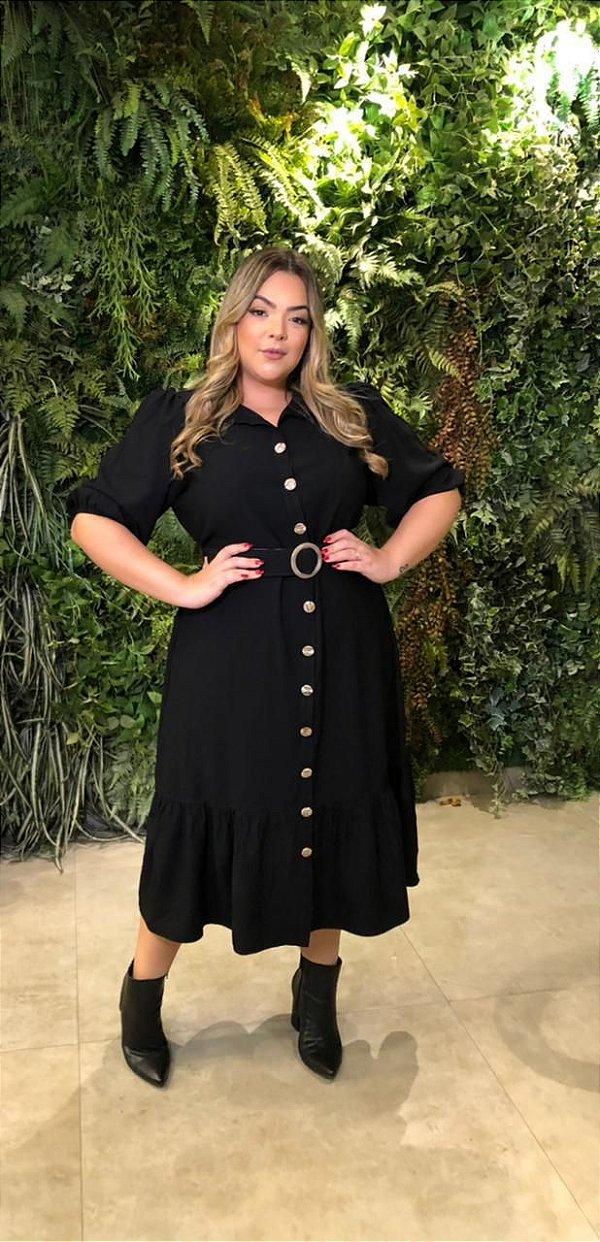 Vestido Plus Size Helena Black
