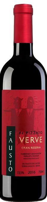 Vinho Pizzato Fausto Verve Gran Reserva Blend - 750ML