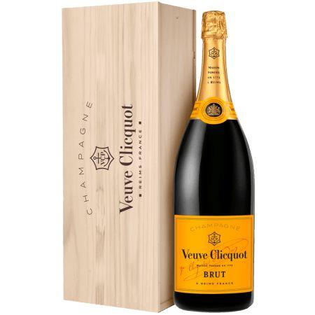 Champagne Veuve Clicquot Brut 3l Com Caixa De Madeira