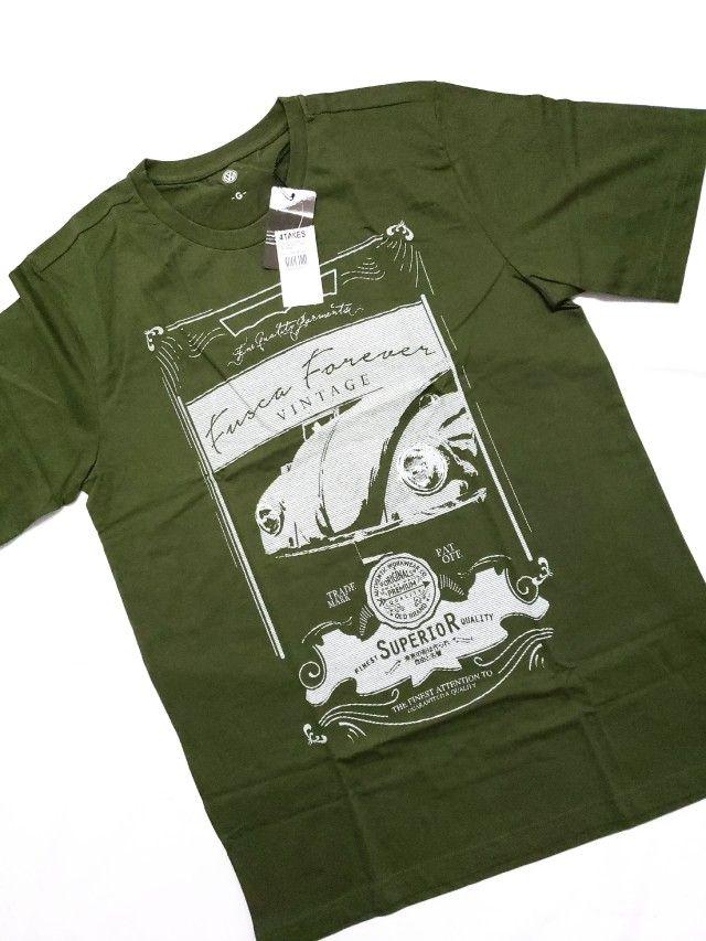 Camiseta Fusca Vintage Verde Escuro