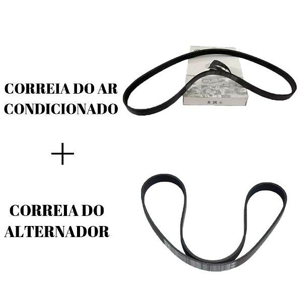 Kit Correia do Ar Condicionado + Correia do Alternador