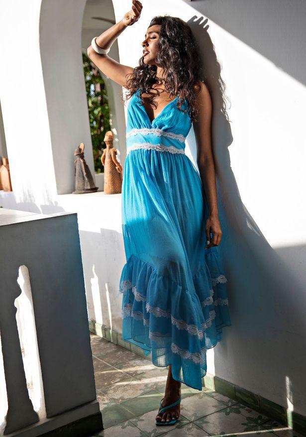 Vestido Longo De Alça Lança Perfume